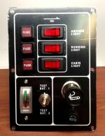 Marine Boat Aluminum Switch Panel 3 Gang w/ Battery Tester & Cig