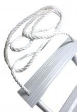 Pactrade Marine Inflatable Boat Kayak 5-Step White Folding PE Rope PVC Ladder for Emergency