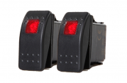 2 PCS ROCKER SWITCH ON-OFF SPST 3 PIN 1 RED LED AUTO