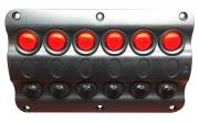 Marine Boat IP65 Switch Panel 6 Gang LED Switches & Circuit Brea