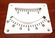 MARINE BOAT TWO SCALES RANGES CLINOMETER PLASTIC SURFACE MOUNT