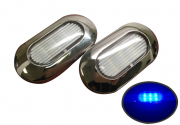 2 of Marine Boat Blue LED Light SS304 12V 22LM IP67 6LED