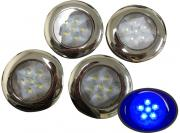 4 of Marine Boat Blue LED Ceiling Light SS304 Housing Surface