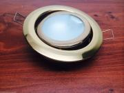 Marine Boat LED Swivel Ceiling Light Brass Lacquered Flush Mount