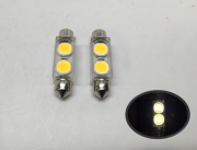 2 PCS LED 2 BULB FESTOON TYPE WARM WHITE