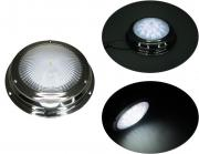 "Dimmable Stainless Steel LED 5"" Ceiling Dome Light On/Off Switch"