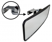 Pactrade Marine Boat Ski Wide Mirror Tinted Black Deck Windshield Mounted Dash
