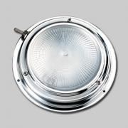 "Dimmable LED Dome Light 4"" On/Off Switch Stainless Steel"