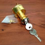 MARINE BRASS IGNITION STARTER SWITCH 3 TERMINALS 3 POSITIONS HEA