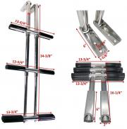 3 Step Stainless Steel Telescopic Boat Dive Ladder