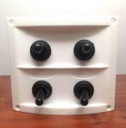 RV Marine White Waterproof Boat Switch Panel With Fuses & Neopre