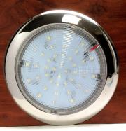 "MARINE BOAT LED BRIGHT SUPER SLIM CEILING LIGHT 5""D SURFACE MOUN"