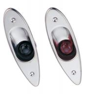 Marine Boat Navigational Side Bow Tear Drop Lights Stainless Ste