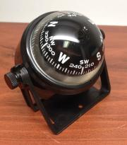 "MARINE BOAT SPORTS 2.25"" D COMPASS WITH BLACK BRACKET VISIBLE LU"