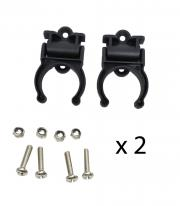 2 Sets Canoe Kayak Pair (2 PCS) Of Black Folding Paddle Clip Kit