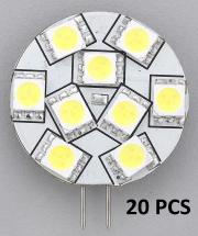 "REPLACEMENT LED BULB G4 WARM WHITE SIDE PIN 1.1""DIA 10 PCS"