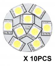 "10PCS REPLACEMENT LED BULB G4 WARM WHITE BACK PIN 1.1""D"