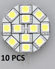 "10pcs LED Bulb G4 Warm White Side Pin 1.2""D"