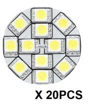"20PCS REPLACEMENT LED BULB G4 WARM WHITE BACK PION 1.1""D"