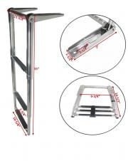 Boat Swim 3 Step Stainless Steel 304 Telescoping Ladder