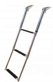 MARINE BOAT STAINLESS STEEL 3 STEP TELESCOPIC LADDER SWIM STEP O