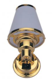 LACQUERED BRASS LACQUERED INTERIOR LIGHT MARINE BOAT HALOGEN LIGHT PLASTIC SHADE