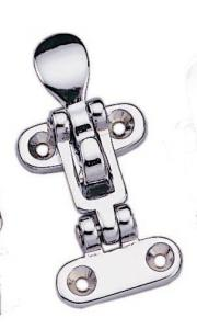 "MARINE BOAT ANTI RATTLE DOOR KEEPER CHROME PLATED BRASS 3.8"" BY"