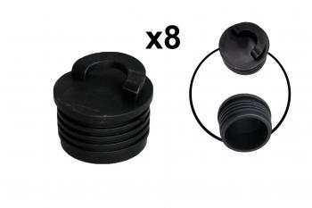 Pactrade Marine Boat Kayak Dinghy Canoe Large Scupper Plug Rubber 1 5/8'' (42mm) 8pcs/set