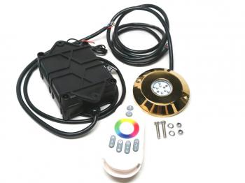 SS316 RGB LED Underwater Light With Remote Controller