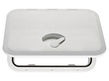 "SEAFLO MARINE 10.62""X14.76"" WHITE DECK ACCESS HATCH WITH LID 1 R"