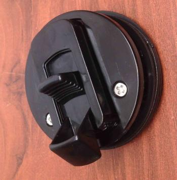 "MARINE BOAT BLACK PLASTIC FLUSH PULL SLAM LATCH HATCH LIFT 2 3/8""D"