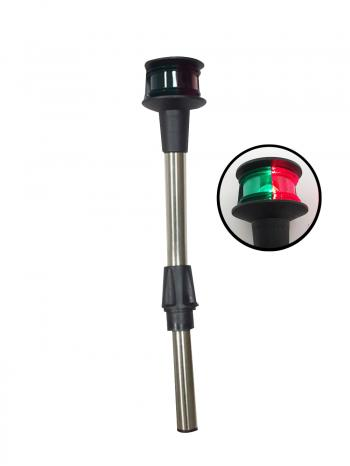 Navigation Red Green BiColor Plug In Bow Light With Angled Pole