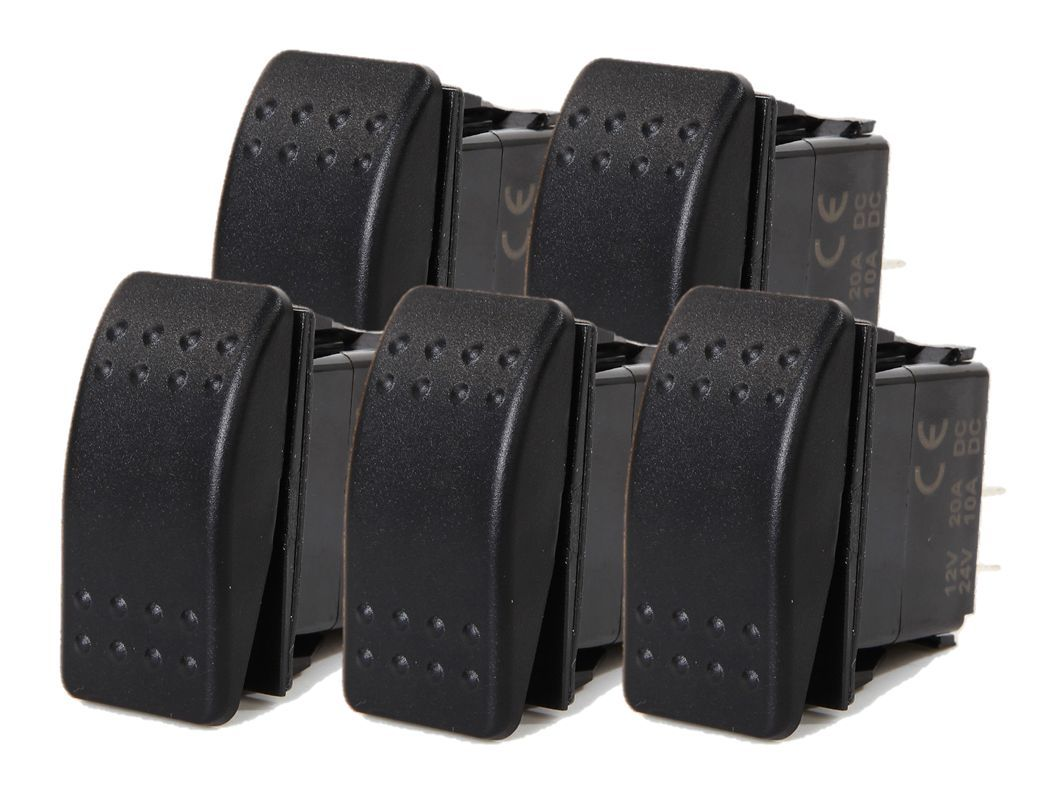 5 PCS ROCKER SWITCH ON-OFF SPST 2 PIN